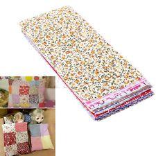 Poplin Cotton Fabric Bundle Patchwork Sewing Quilting Tissue Cloth 20*10cm 25pcs