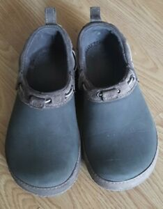 Crocs BROWN SUEDE adjustable comfortable WOMENS Size 8 pre-owned !!!!!!