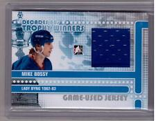 MIKE BOSSY 10/11 Decades 1980s Game-Used SILVER /30 Jersey Trophy Winners  #08