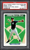 2010 Topps #98 DEREK JETER RC HOF Cards Tour Mom Threw Out PSA 10 GEM MINT