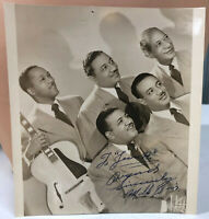 Mills Brothers Singing Group VTG Autographed 5 x 7 Promo Photo