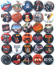 AC DC AC/DC Button Badges Pins Highway to Hell Let There Be Rock TNT Lot of 30