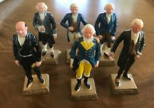 "New ListingLot of 6 Vtg Marx Toy Us Presidents Plastic Figures 2.75"" Tall Washington Adams"