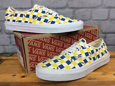 VANS MENS UK 9 EU 43 FACTORY PACK CHECKERBOARD SHOES YELLOW BLUE SKATE SHOES J
