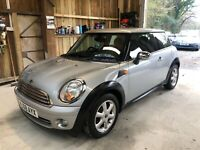 mini one 1.4 2008 very clean long mot ideal first car delivery poss no reserve