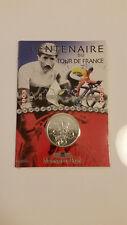 """1/4 euro en blister"""" 100 ANS TOUR de FRANCE """"argent Stgl."""