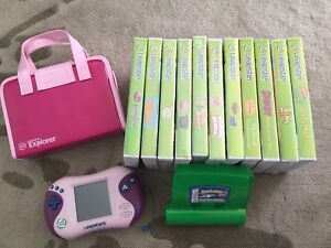 Leap Frog Leapster 2 Explorer Pink Console Plus 12 Games & Case As New Condition