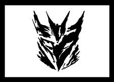 TRANSFORMERS DECEPTICON Art schwarz 2x Aufkleber Sticker Emblem 110x100mm
