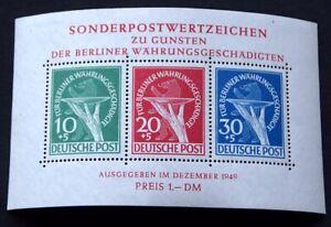 BERLIN Block 1 mit Plattenfehler III tadellos postfrisch 2.500 EURO Michelwert