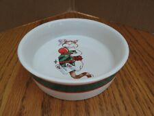 Christmas Cat Bowl Celebrations by Silvestri Holiday Dish Audrey Heffner Design