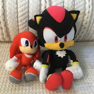 Sonic Hedgehog Shadow & Knuckles Bundle of 2 Soft Plush Toys Collectible