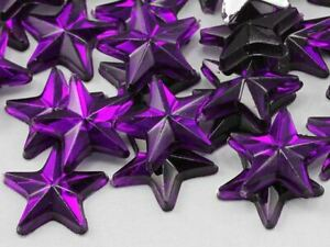8mm Star Rhinestones Embelishments Flat Back Acrylic Plastic Crafts Gems 100Pcs