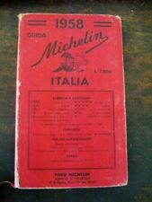 Vintage HB Guida Michelin Italia Red Cover Michelin Guide to Italy 1958 EXC