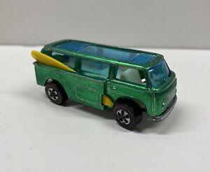 Vintage 1970 Mattel Hot Wheels Redline Volkswagen VW Beach Bomb (GREEN)