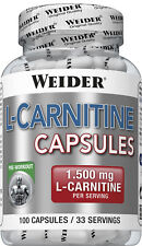 Weider L-CARNITINE Capsules Container with 100 Capsules (23,17 Eur / 3.5oz)