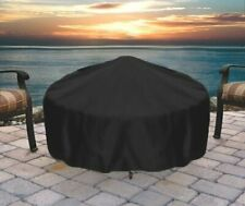 Sunnydaze Fire Pit Cover Round Durable Weather-Resistant Waterproof - Black- 40& 00004000 #034;