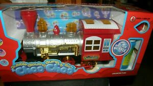 Bubble Blowing Bump&Go Train Locomotive Engine Battery Op New in Package