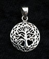 Pendentif Arbre de Vie-celte-tree of Life-en Argent  925-0.9g-22 mm-W36 10082