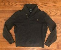 Polo Ralph Lauren Estate Rib Dark Gray Pullover Sweater Men's Medium
