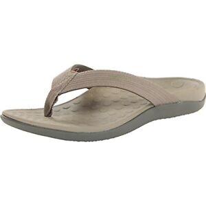 Vionic Unisex Wave Toe Post Sandal, 7 B(M) US Women / 6 D(M) US Men, (Khaki)