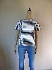 ARMOR LUX T-shirt manches courtes 1 36 S MARINE blanc bleu rayé