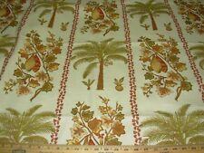"13.7m ~ Richloom ""Tropical palmtrees ""~ Algodón Cortinas Tela Para Tapizar menos"