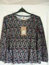 Mantaray Gris Ivoire Prune Cercles Swing Pull Sweater. UK 12 EUR 38-40 US 8 Bnwt
