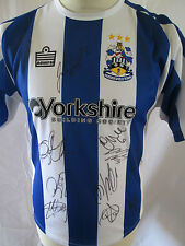 Huddersfield Town 2005-2006 Squad Signed Home Football Shirt with our COA