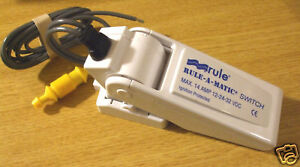Float switch for bilge pump  12/24v  RULE   MODEL 35FA