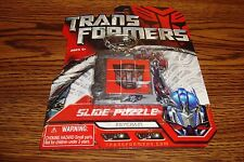 Autobots TRANSFORMERS Optimus Prime Slide Puzzle with Carabiner Keychain  * NEW