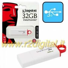 PENDRIVE DTIG4 KINGSTON 32 GB USB 3.0 PENNA ALTA VELOCITA ARCHIVIO DATI COMPUTER