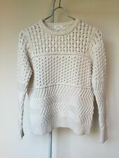 Women's BNWT Elka Collective Janae Cable Knit White Size S/AU8/US4 RRP $259.95