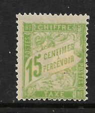 France 1894 15c pale green Postage Due, vf MINT  hinged SG D299 cv £46