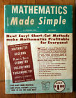 Mathematics Made Simple 1958 A. Sperling & M. Stuart Vintage Garden City Books