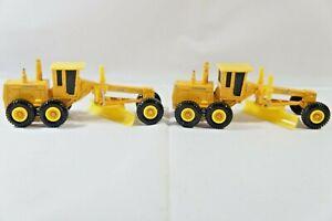 2 Pack Vintage 1987 Ertl John Deere 772B Industrial Road Grader 1/64 Scale