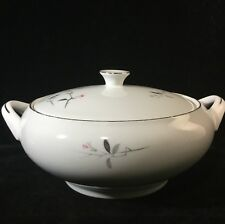 Vtg Cherry Blossom Fine China Japan Covered Vegetable Serving Bowl Dish with Lid
