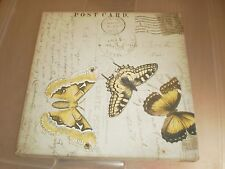 Set of 3 Butterfly Canvas 8X8 Pictures
