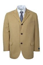 Brooks Brothers Mens Tan Beige 100 Camel Hair Three Button Blazer 42s 0790-1
