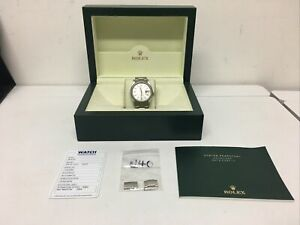 ROLEX Oyster Perpetual Datejust 16220 Silver Dial 36mm AUTOMATIC + Rolex Box