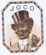 Joco, original outer cigar label, smiling man in top hat