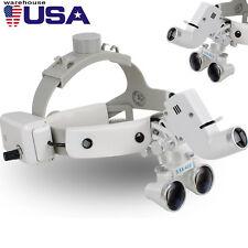 Dental Binocular Loupes Surgical Glass Magnifier+LED Headlight 3.5X 280-380mm CE