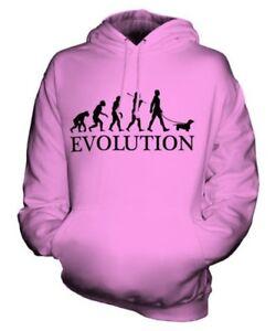 DACHSHUND EVOLUTION OF MAN UNISEX HOODIE MENS WOMENS LADIES SAUSAGE DOG TECKEL