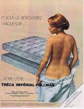 PUBLICITE ADVERTISING 045 1974 TRECA impérial pullman matelas