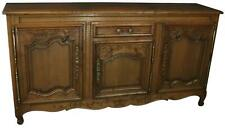 SIDEBOARD NORMANDY ANTIQUE FRENCH 1890 CARVED WALNUT FLOWERS  3-DOOR