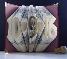 Folded Book Art Personalised Date First 1st Paper Wedding Anniversary Love Gift