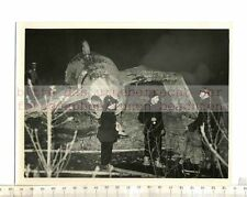 Original Press Photo: 1957 blackbushe airport Hants - 31 died in airliner crash