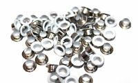 100 x 5mm Brass Grommet White Eyelets WithWashers For Fabric Work Leather cloths