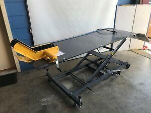 MOTORCYCLE LIFT BENCH, HOIST, AIR / HYD LIFT WORK BENCH 450kg (MB6003G)