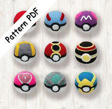 9 x Pokemon Balls Crochet Pattern, PDF (Read Description)