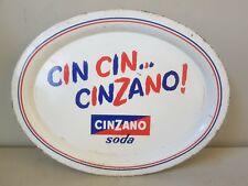 VASSOIO CINZANO SODA CIN CIN ANNI 50 IN LATTA VINTAGE 31,5x24,5cm